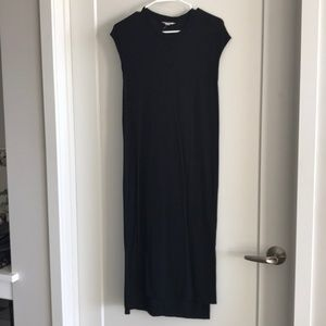 Madewell Muscle Tee Dress Black XS Midi